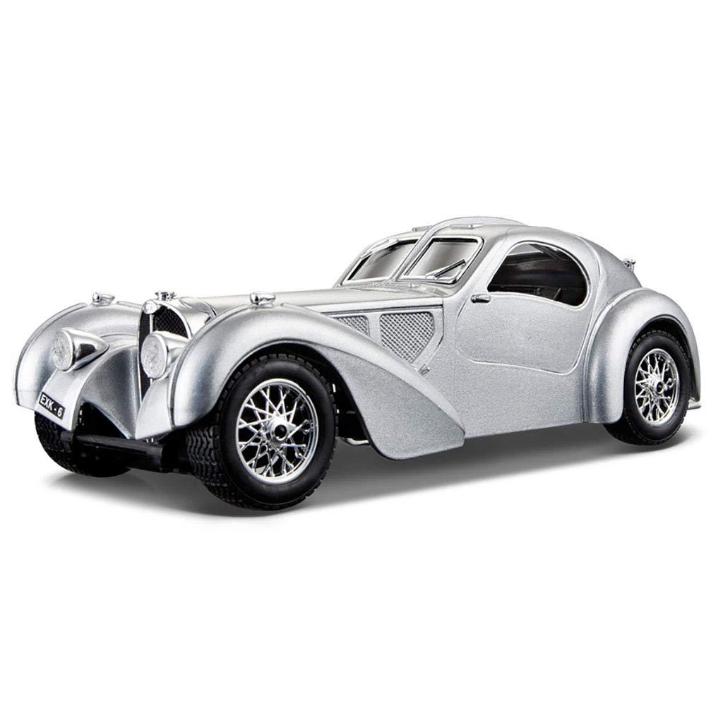 Bugatti Atlantic, silver, RHD, 1936, Model Car, Readymade, Bburago 1 24 by Bburago