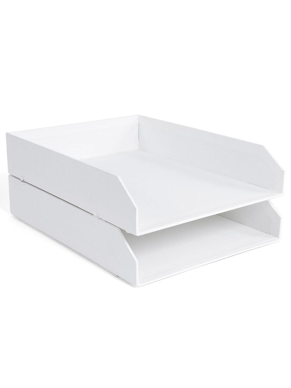 Bigso Box of Sweden 8113455412Stück Dokumentenablagen, stapelbar, Faserplatte, weiß, 31x 23x 6 cm weiß 31x 23x 6 cm Bigso AB 789245501N