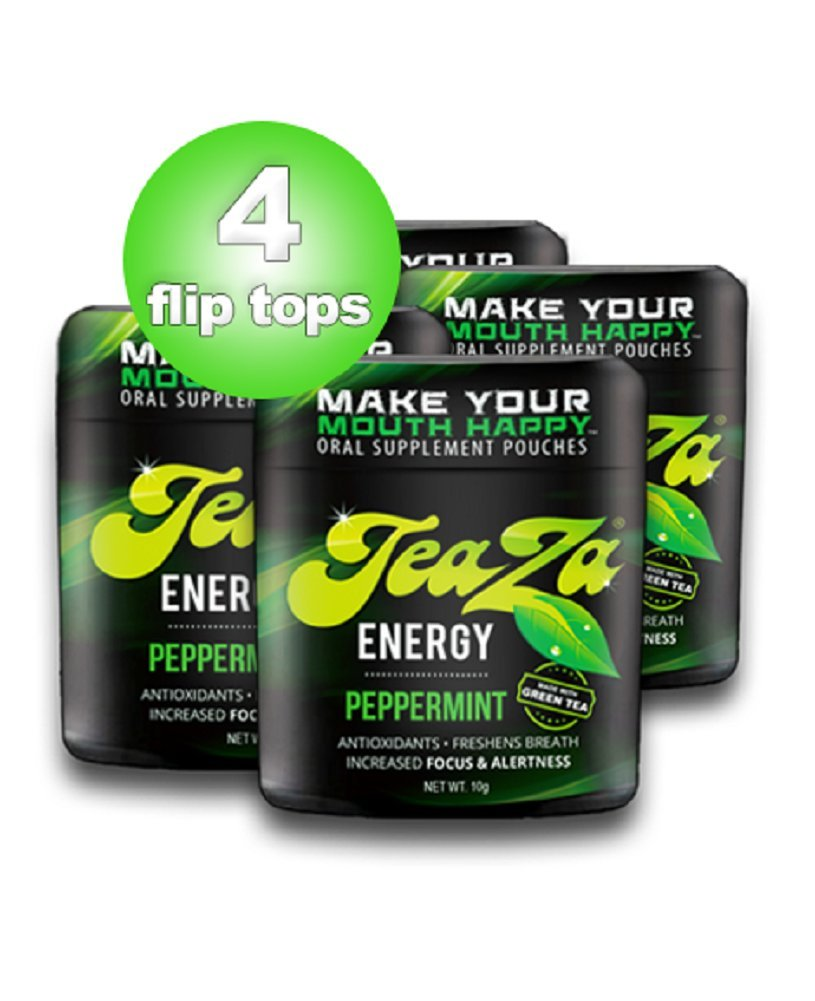 Teaza Herbal Energy Pouch Peppermint (4 Pack)