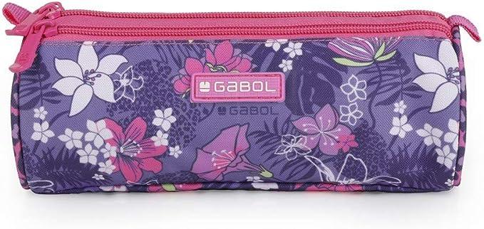 Gabol - Jasmine | Estuche Morado con 3 Cremalleras: Amazon.es: Oficina y papelería