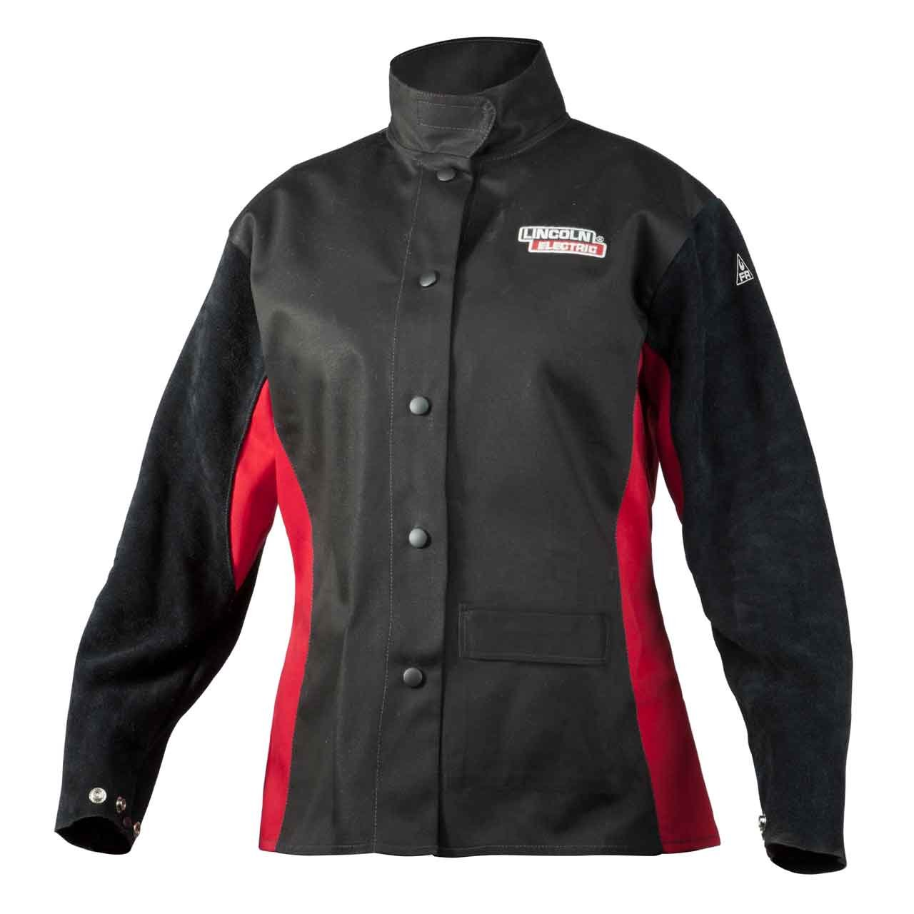 Lincoln Electric Women's Leather Sleeved Welding Jacket | Women's XS | K3114-XS