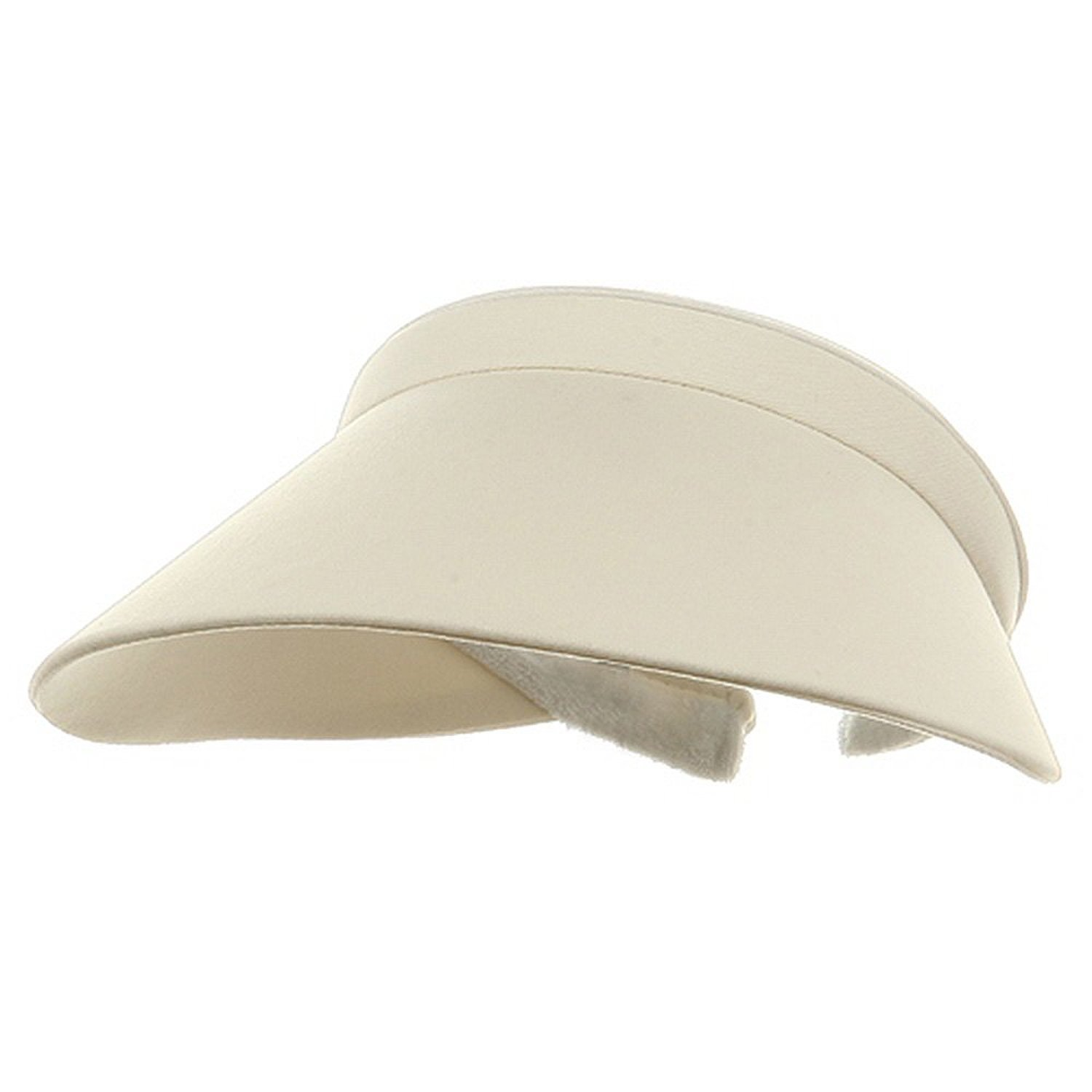 MG Ladies Brushed Cotton Twill Clip-On Visor (Natural)