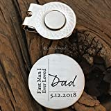 First Man I Ever Loved Golf Ball Marker Dad Gift Father of the Bride Gift Golf Marker Wedding Gift Bride Dad Gift Parent Wedding Day Gift