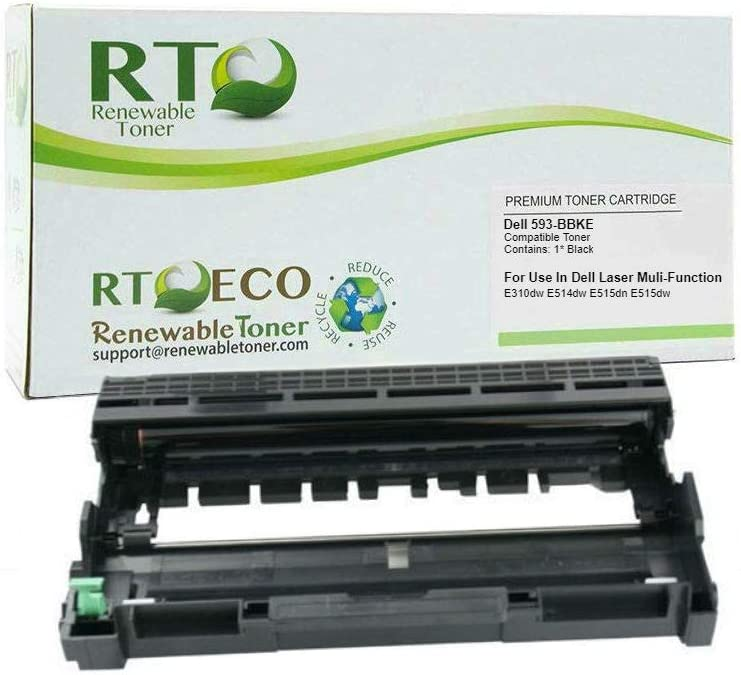 Renewable Toner Compatible Imaging Drum Cartridge Replacement for Dell C2KTH 593-BBKE E310 E514 E515