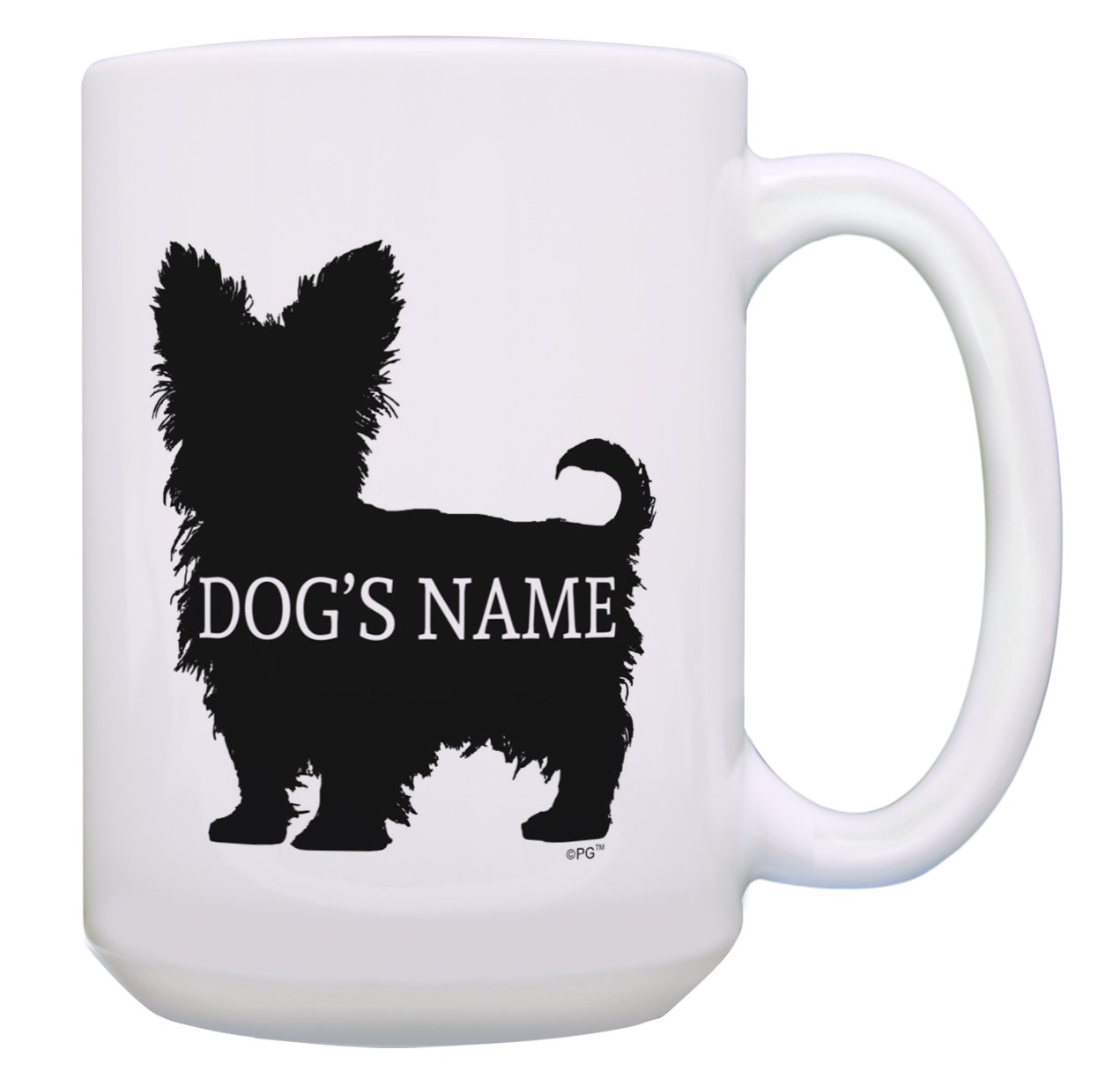 Amazon.com: Custom Yorkie Gifts Add Dog's Name Dog Owners Personalized 2 Pack Gift Coffee Mugs Tea Cups White: Kitchen & Dining