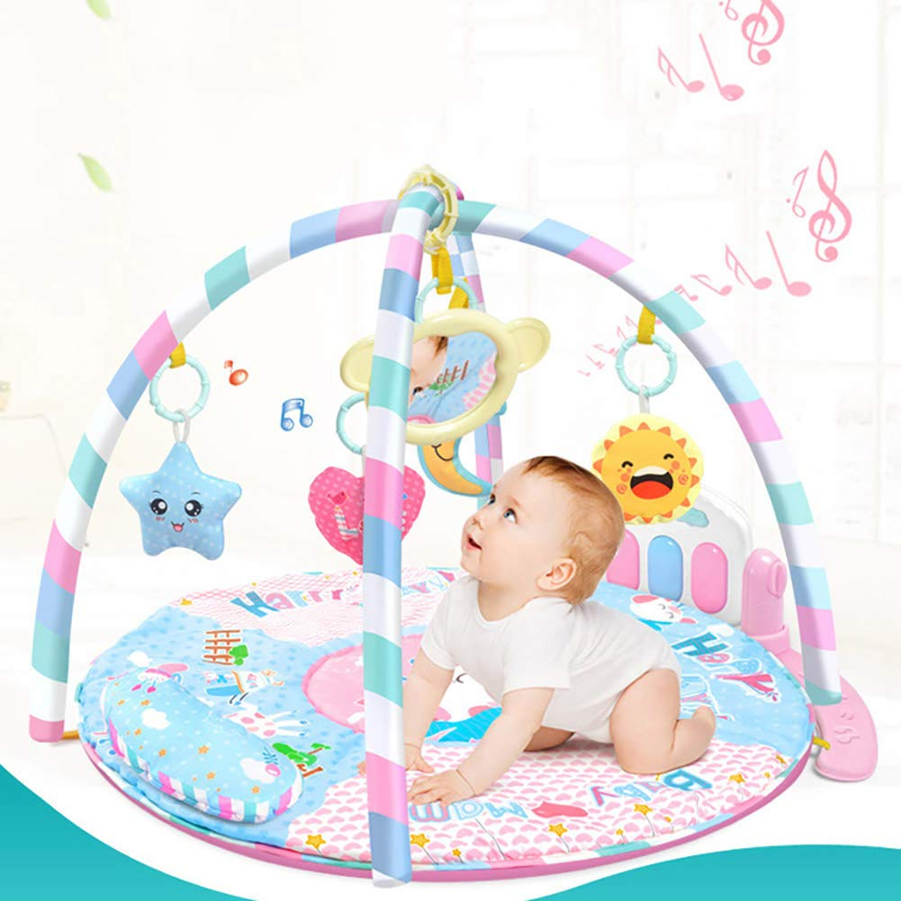 LamicAR Baby Cartoon Cradle Education Toy Fitness Frame Piano Music Blanket Crawling Mat Light Pink by LamicAR (Image #4)