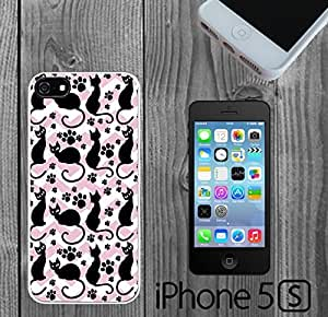Cat Pattern silhouette On Chevron Custom made Case/Cover/Skin FOR iPhone 5/5s by icecream design