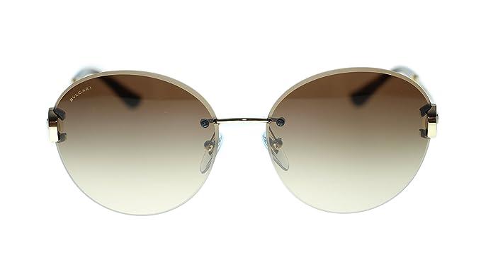BVLGARI Women's Round Sunglasses BV6091B 27813 Pale Gold