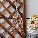 Antique Wood Fish Decor Ornament Wall Hanging