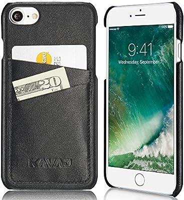 KAVAJ Funda iPhone 8 iPhone 7 Case Piel Tokyo Negra Piel ...