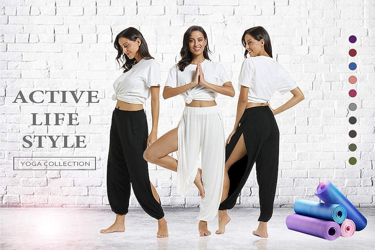 fitglam Harem Pants for Women Side Slit Jogger Hippie Yoga Beach Sweatpants
