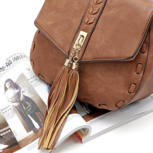 Women Bags Black Strap Bags Shoulder Smilecoco Purse Adjustable Shoulder Small Cross body Tassel gwqx64d