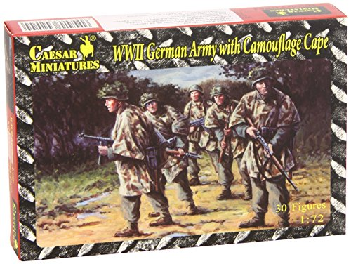 (Pegasus Hobby 1/72 WWII German Army with Camouflage Capes Unpainted Military)