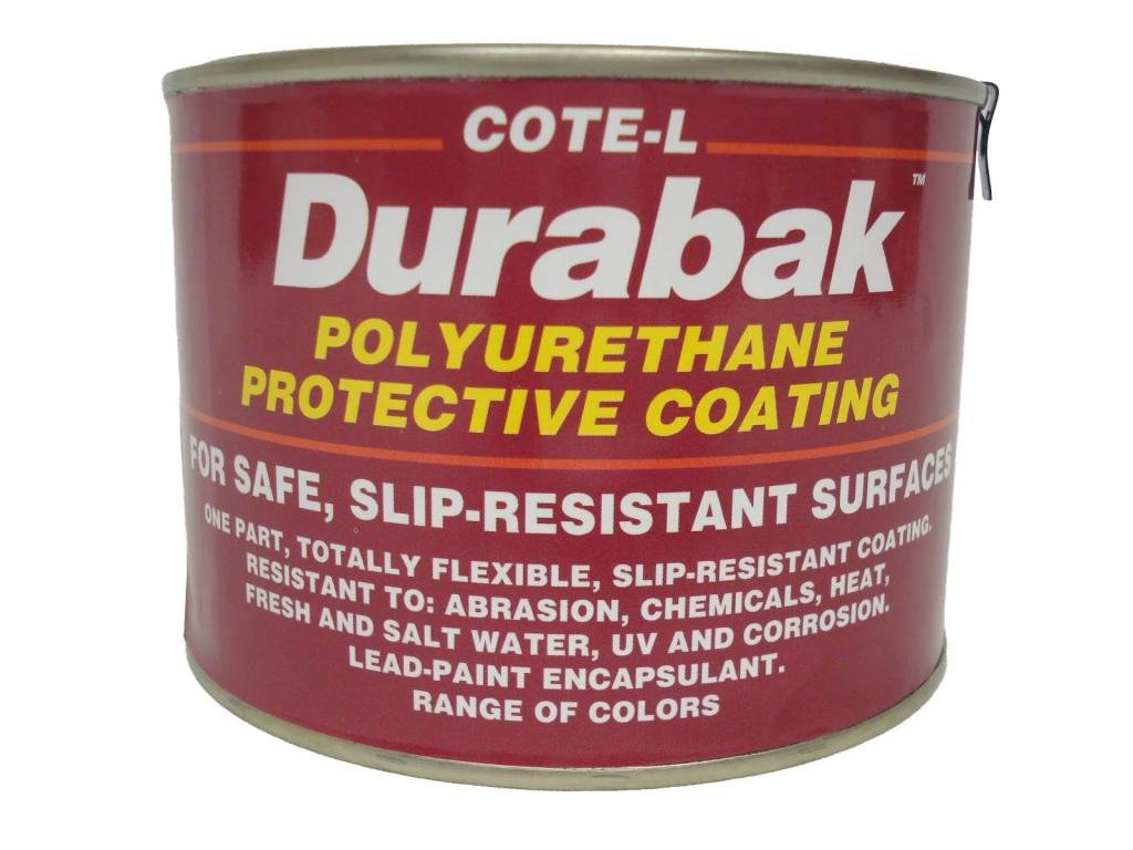 Durabak Original (For Indoors), TEXTURED version - Non Slip Coating, Bedliner, Deck Paint for ALL Boats - Many colors to choose from! - WHITE - QUART by Durabak Depot (Image #1)