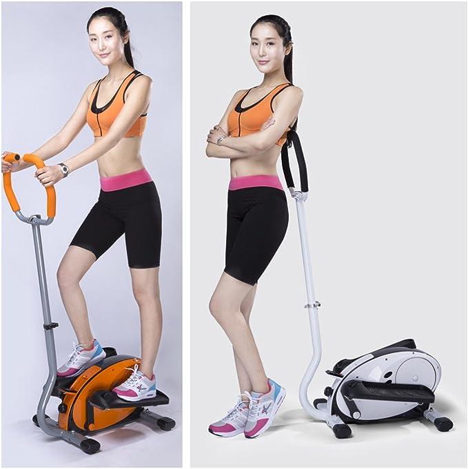 synteam Home-use elíptica ejercicio máquina con mango, Anaranjado: Amazon.es: Deportes y aire libre