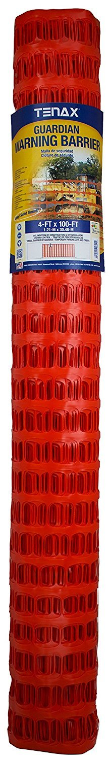 Tenax 2A060006 Guardian Economy Safety Fence, Orange, 4-Feet by 100-Feet (Pack of 2)