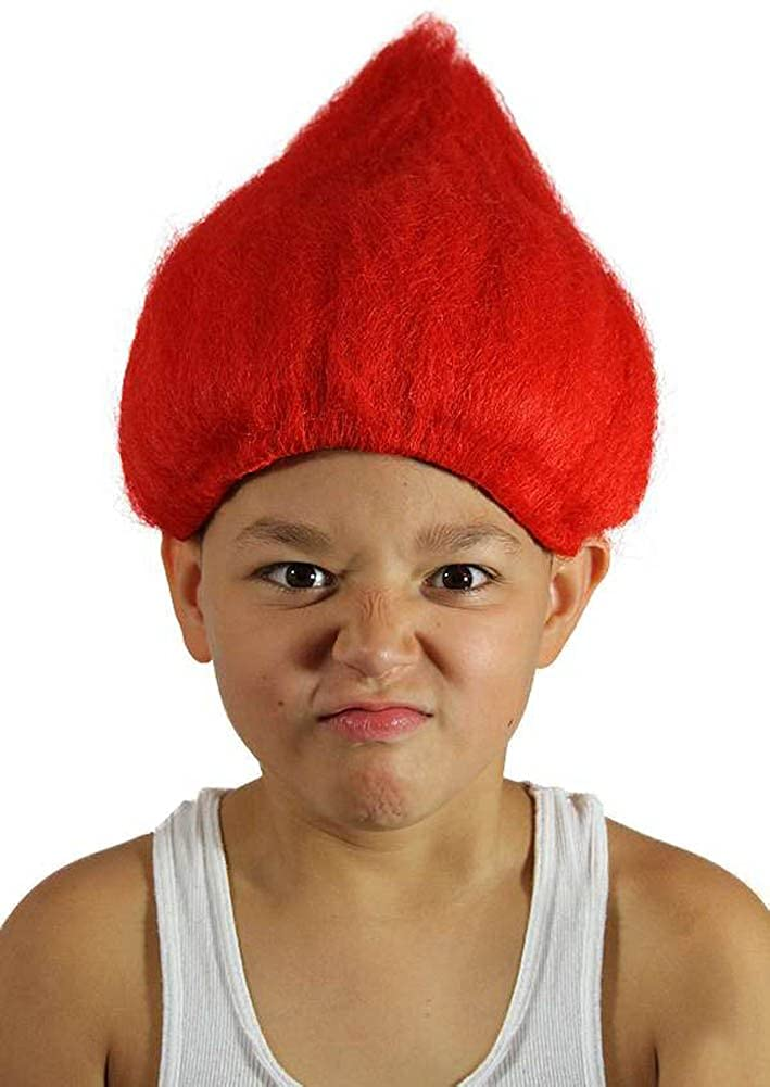 My Costume Wigs Red Troll Wig (Red) One Size Fits All UTRedTrollKid