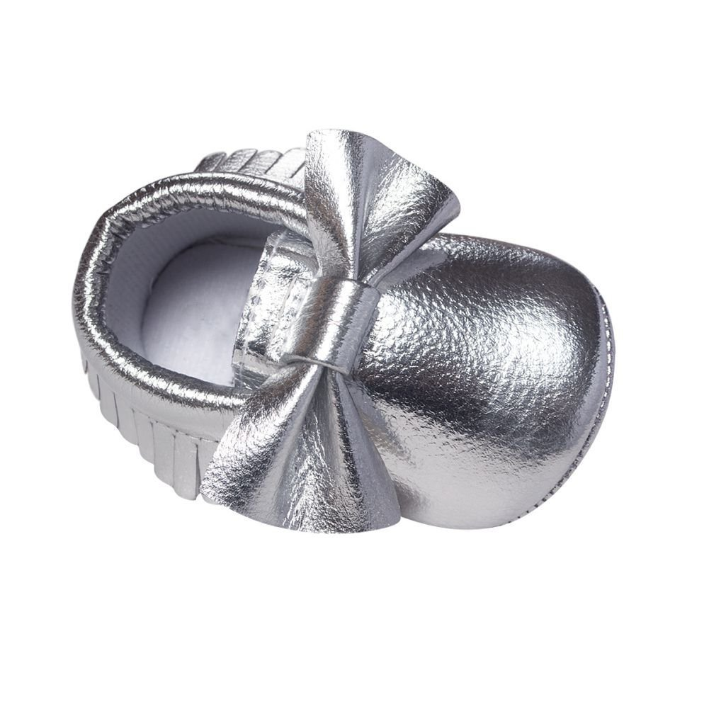 BOBORA Baby Boys Girls Soft Soled Tassel Bowknots Crib Shoes PU Moccasins BON-N-1597C-S