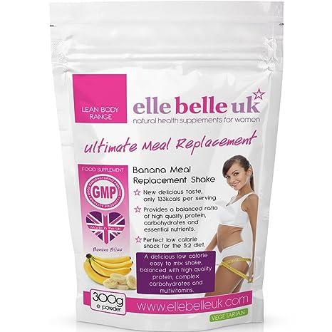El Mejor Batido Sustitutivo de Comidas Para Mujeres – Sabor Delicioso a Plátano Batido para Adelgazar