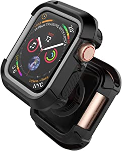 Compatible with Watch Series 4 Case 40mm, Rugged Protective Case Shockproof Bumper Screen Protector Cover Replacement for Watch Series 4, 40mm