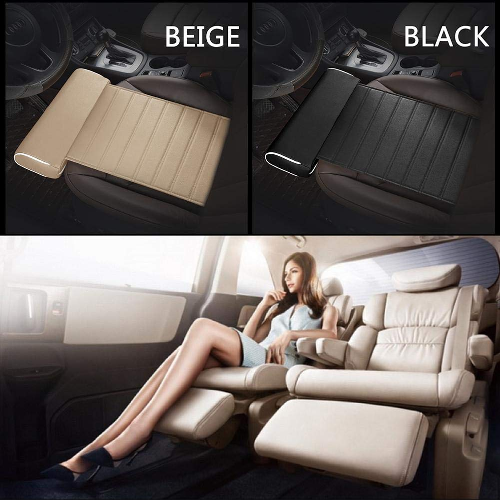 Todaytop Breathable Seat Cushion Cover Pad Mat Foot Support Mat Leg Support Longer Car Cushion Leather Leg Cushion Knee Pad Thigh Support Mat Interior Car Accessories