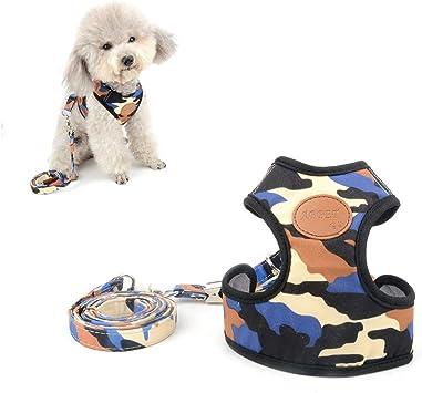 SELMAI - Arneses de Perro de Camuflaje Azul para Mascotas pequeñas ...