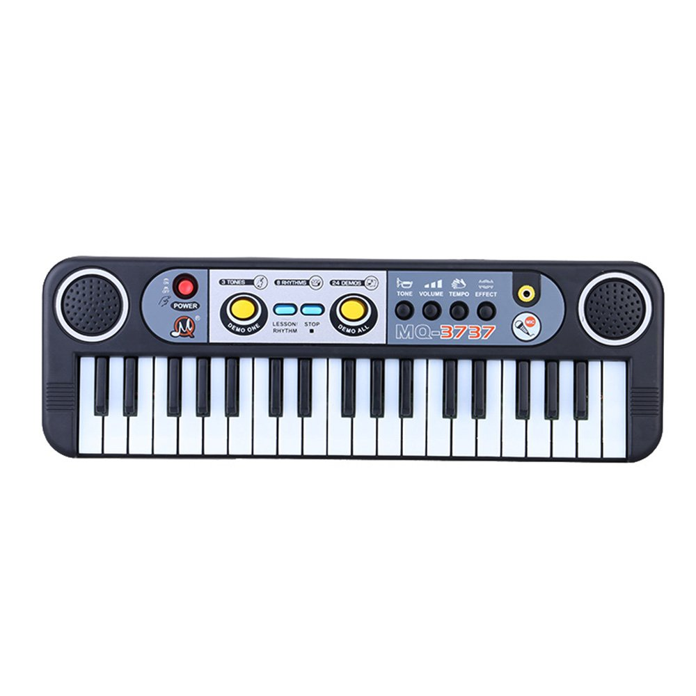 37 Keys Multifunctional Mini Electronic Keyboard Music Toy with Microphone Educational Electone Gift for Children Kids Babies Beginners Andoer