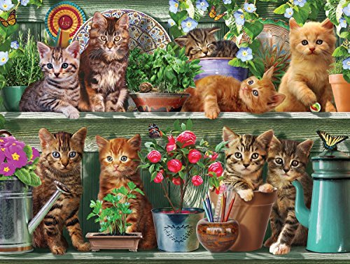 White Mountain Puzzles Spring Kitten Jigsaw Puzzle (1000 Piece)