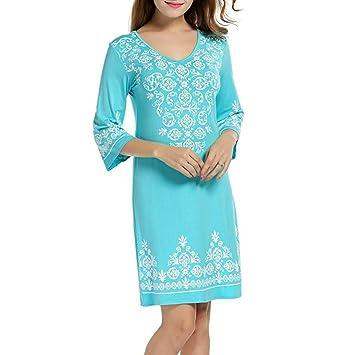 Vestido Estampado de Moda by Ba Zha Hei, Vestido Tallas Grandes Mujer | Verano Elegante