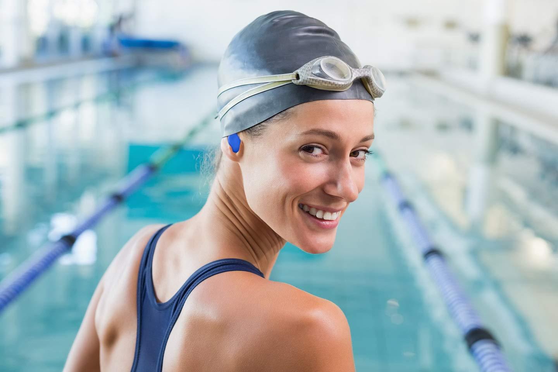 Mighty Plugs - (6 Pairs) USA Made Worlds Best Ear Plugs for Sleeping - 100% Waterproof Swimming Earplugs - Best Ear Plugs Noise Reduction - Finest Ear ...