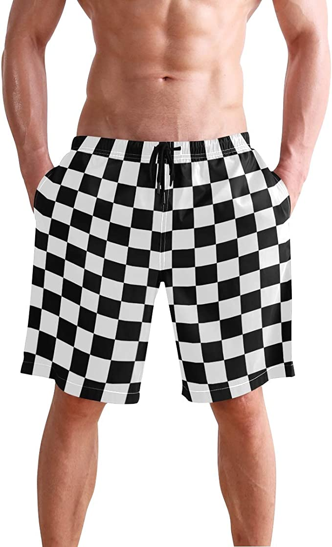 Mens Stylish Swim Trunks Quick Dry Board Shorts American Flag//Flamingo with Pockets 20