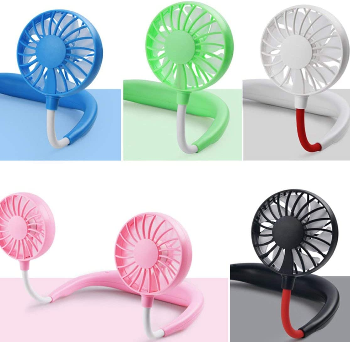 Wearing Fans Mini USB Charging Fan Rechargeable Air Conditioner for Student Universal USB Gadgets for Home Office Travel