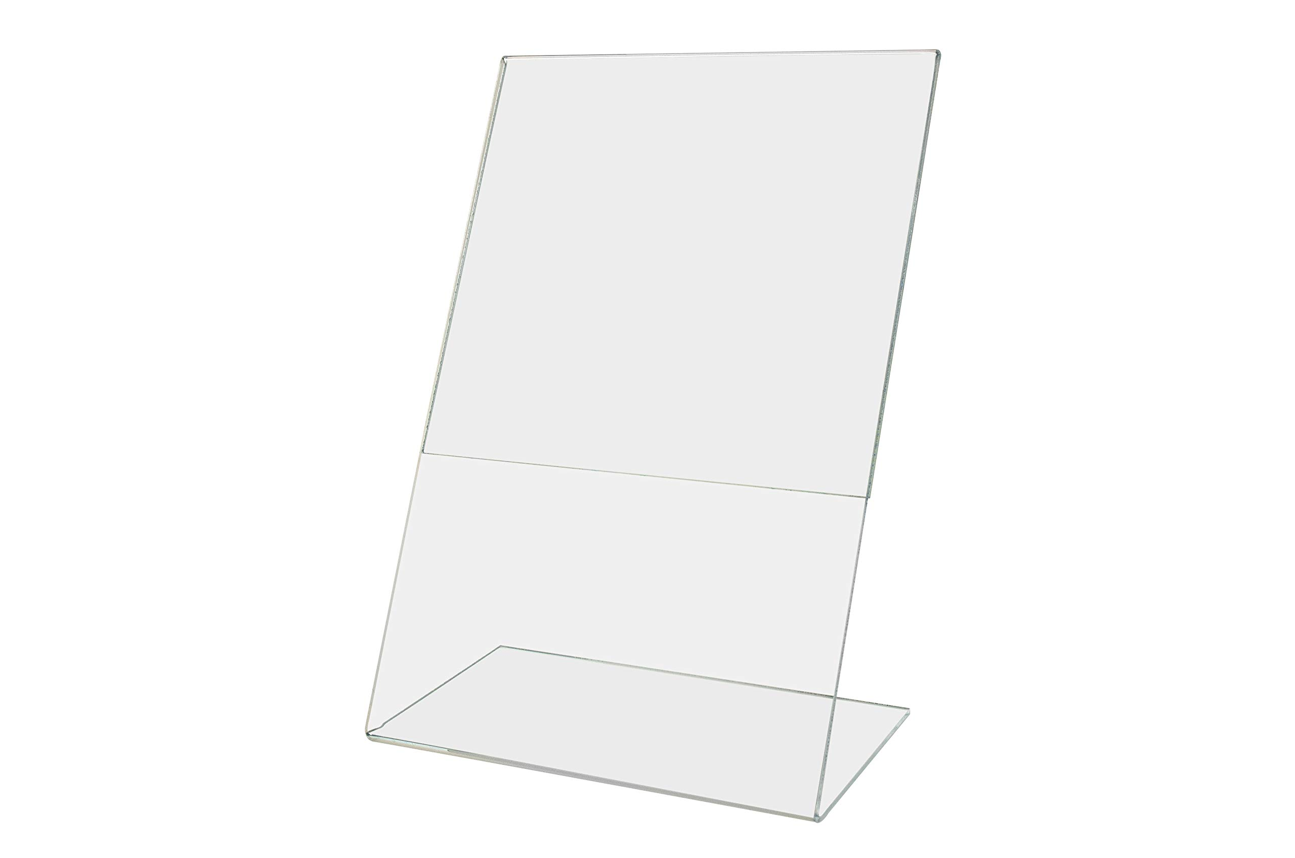 Marketing Holders Advertisement Literature Rack Clearance Price Signage Menu Drink Frame Flyer Poster Picture Display 6''w x 9''h Pack of 10