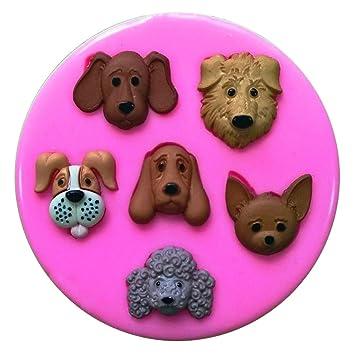Fairie Blessings - Molde de silicona para decoración de pasteles, pasteles, magdalenas, chihuahua, diseño de caras de perro: Amazon.es: Hogar