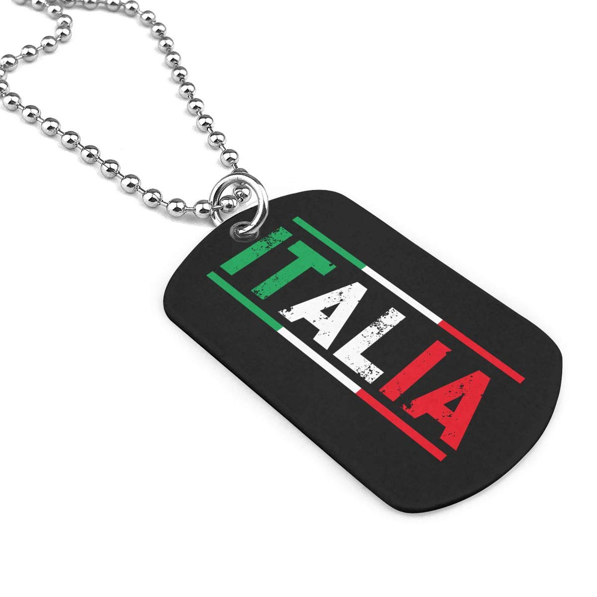 Military Necklace Italian Flag Custom Zinc Alloy Pendant Necklace Dog Tags