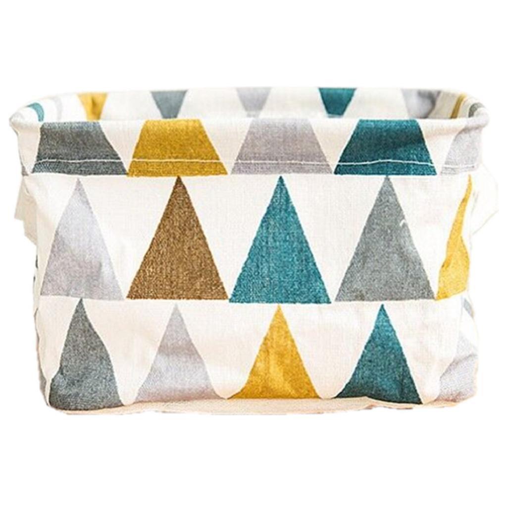Boomboom Storage Bag, Foldable Storage Bin Closet Toy Box Container Organizer Fabric Baskets (Blue 2)