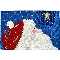 Jellybean Star Gazing Santa Indoor Outdoor Accent Rug