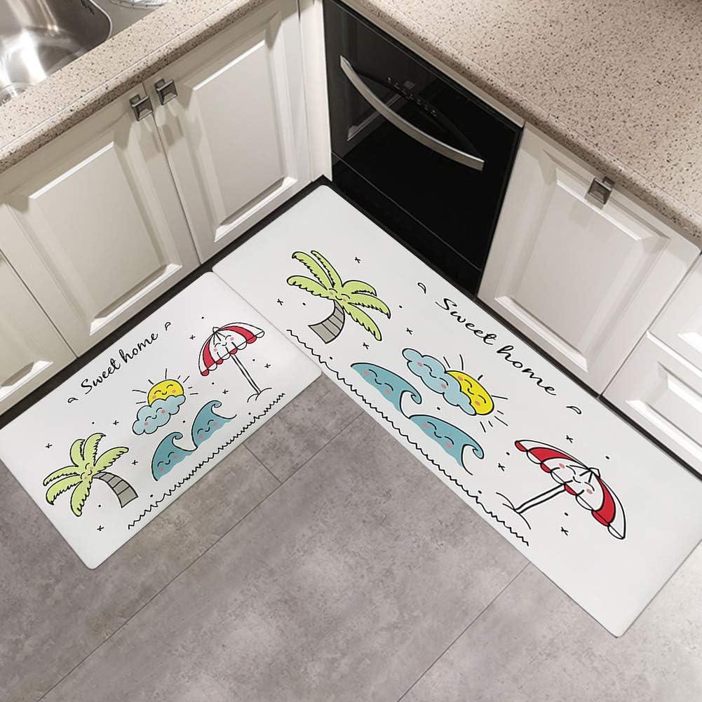 GABWE Kitchen Mat Set 9 Piece Non Slip Waterproof Kitchen Rugs ...