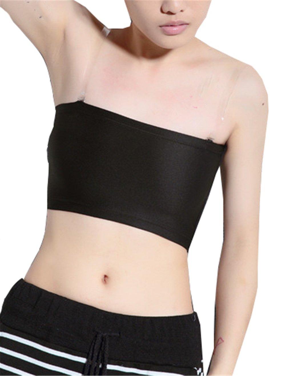 DXKIGO Breathable Super Flat Les Lesbian Tomboy Compression 3 Rows Clasp Chest Binders Lingerie & Underwear