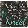 P Graham Dunn When Life Gets Too Hard To Stand Kneel Dandelion Wisps 10 X 10 Wood Pallet Design Wall Art Sign