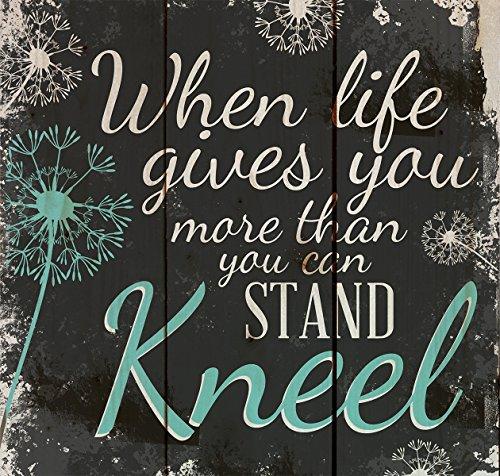 Kneel Dandelion Wisps 10 X 10 Wood Pallet Design Wall Art Sign Part 14