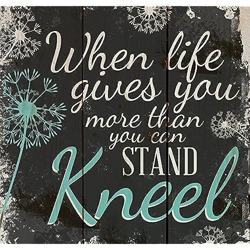 Kneel Dandelion Wisps 10 X 10 Wood Pallet Design Wall Art Sign
