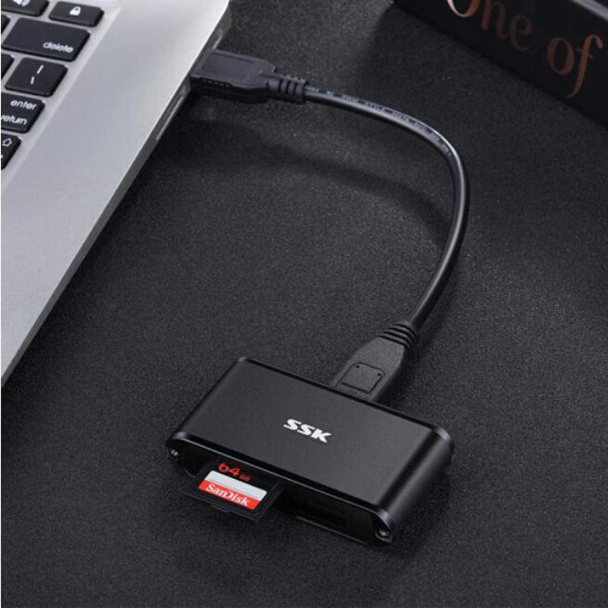Aishanghuayi Card Reader USB3.0 High Speed Reading and Writing Color : Black Support TF//SD//CF Mobile Phone Card Camera Card