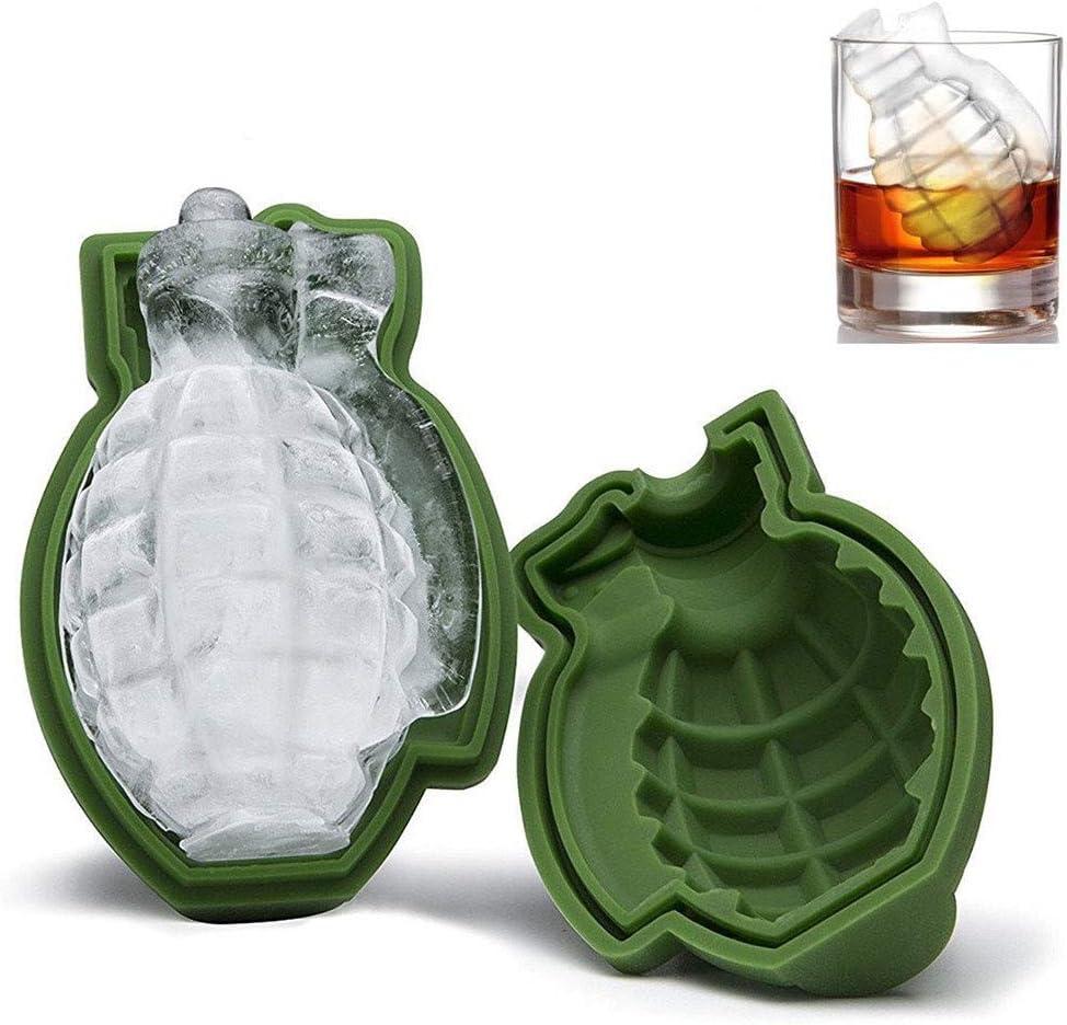 Molde para cubitos de hielo en forma de granada 3D, molde de ...