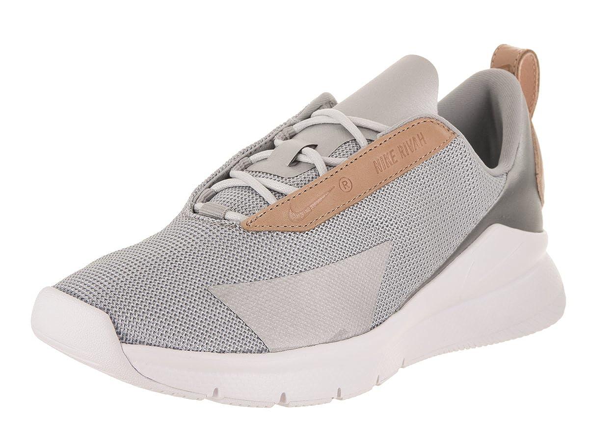 Amazon.com | Nike Women's Rivah SE PRM Metallic Silver/White ...