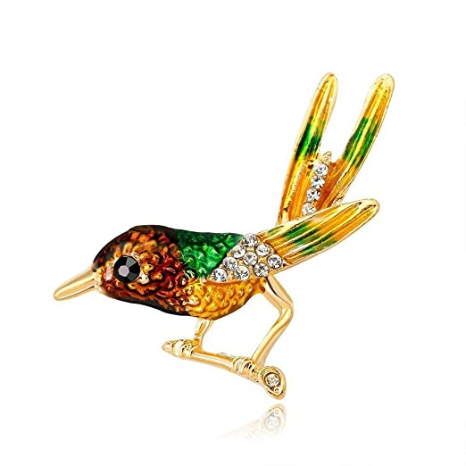 Fishroll Ramillete Mujer, Broche Traje de Broche de pájaro ...