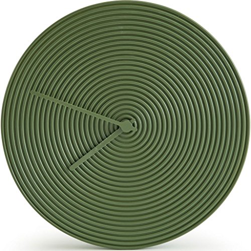 Atipico Ring Ceramic Wall Clock | Olive Green