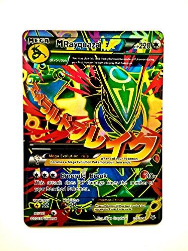 Mayquaza Mega EX Cards Pokemon Mega EX Cards for 1 Dollar Gold Flash Light cards M Mayquaza EX