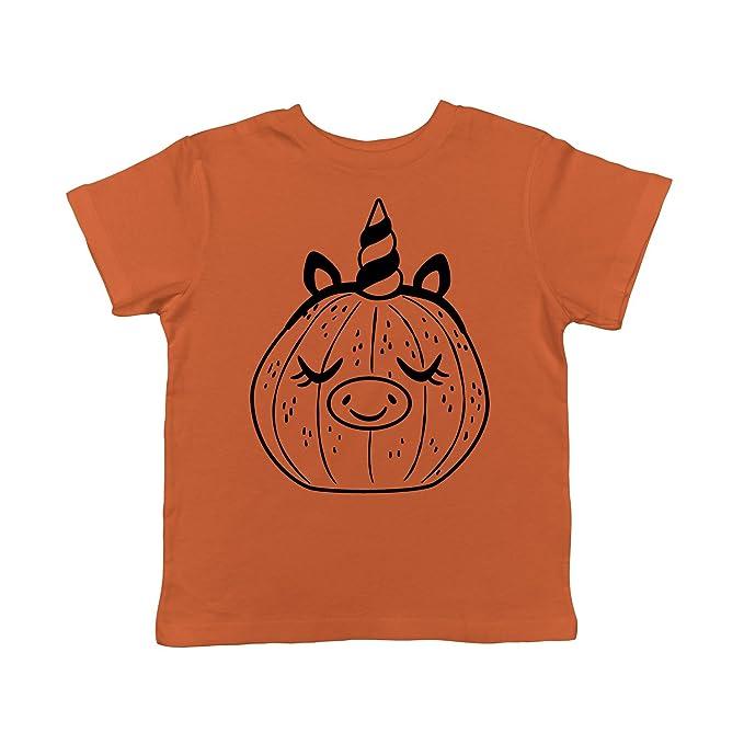 8046b0c04d317 Toddler Pumpkin Unicorn Pig Tshirt Funny Halloween Jack-O-Lantern Tee for  Kids (