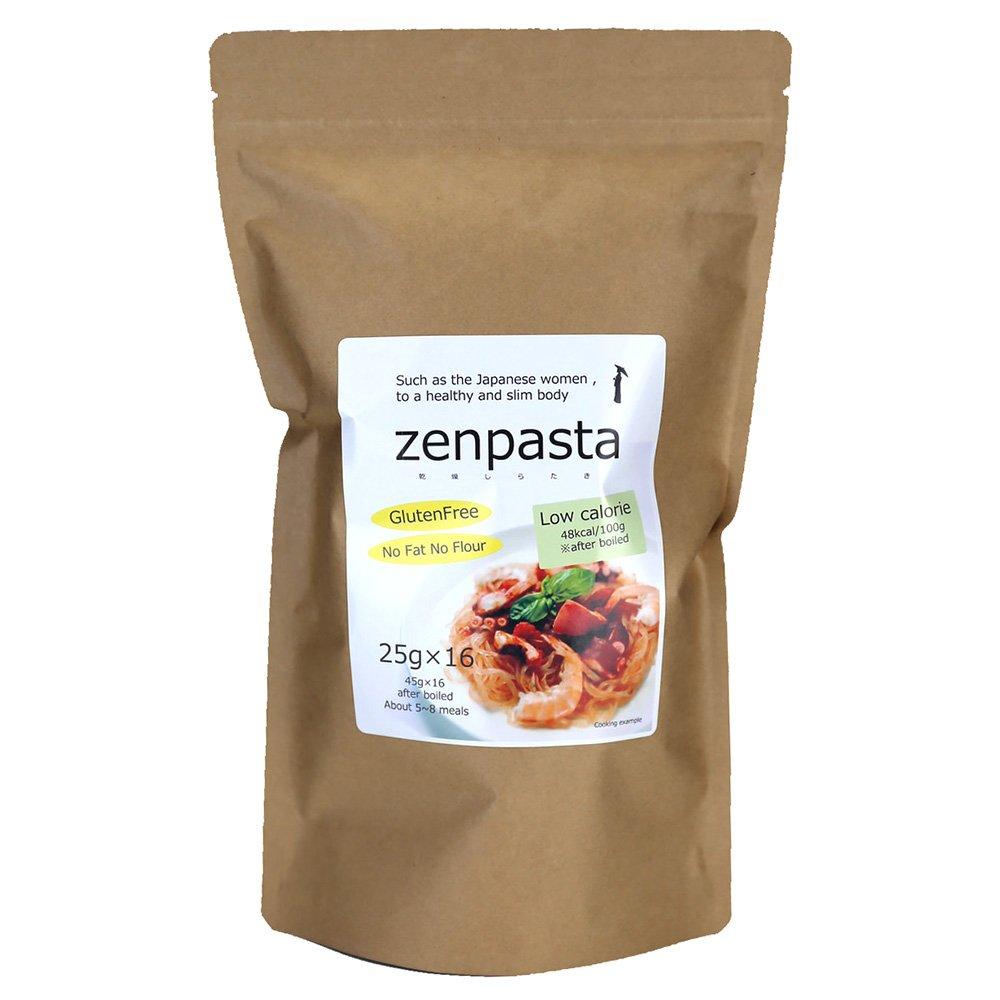 ゼンパスタ ダイエット乾燥しらたき25g×16個セット 低カロリー ヘルシー 無添加 無農薬 乾燥 糸こんにゃく ZENPASTA